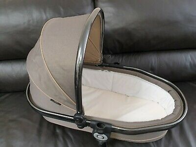 ICandy Peach Twin carrycot In Olive, space grey frame