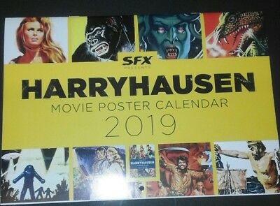 RAY HARRYHAUSEN MOVIE POSTER Collectable CALENDAR 2019.  Like new