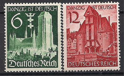 Germany's Third Reich 1939 Mi# 714-715 MH Occupation of Danzig *