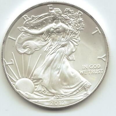 2012  Uncirculated American Silver Eagle  1-Troy oz. .999 Silver. Eagle is Whit9