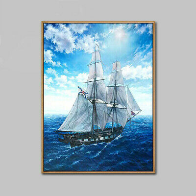YA599 Set sail 100% Hand-painted oil painting Seascape Canvas Home decor art