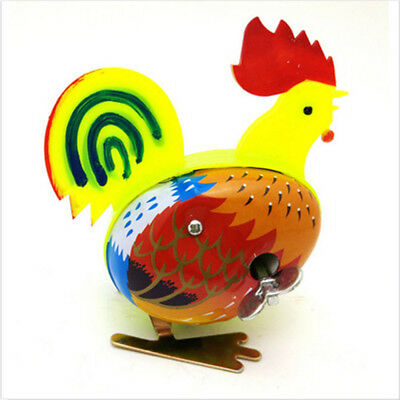 Cute Metal Rooster Shape Clockwork Wind Up Toy Classic Toy For Kid Children Gift