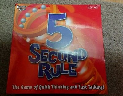 University Games BOX-04475 5 Second Rule Game Board Family Fun Set New Gift