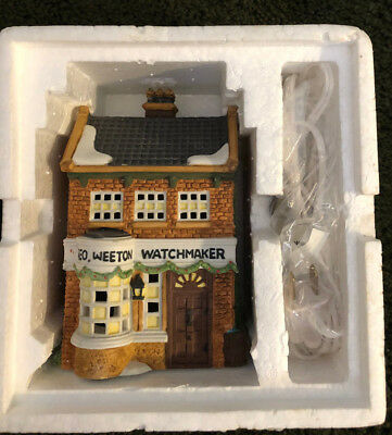 DEPT 56 Heritage Dickens Village Geo Weeton Watchmaker Light Porcelain 59269