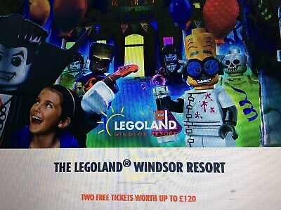 Great Sun Offer 2 X Legoland Tickets All 9 Codes As Required
