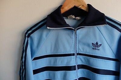 9177edcde24 Vintage Adidas tracksuit jacket trefoil 70s/80s   Blue   S   rare Made in