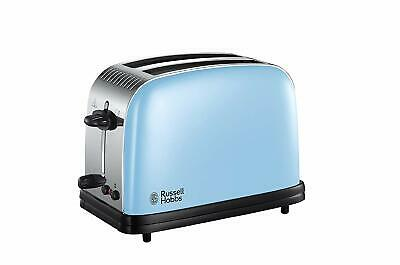 Russell Hobbs Toaster 2 Slice Blue Vintage Antique New 23335 Extra Wide Slots