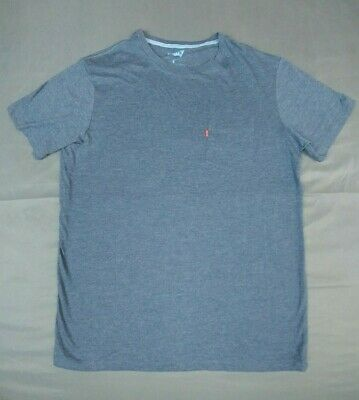 Levis Mens Pocket T-Shirt Tee Size Medium Blue Cotton Blend Short Sleeve Regular
