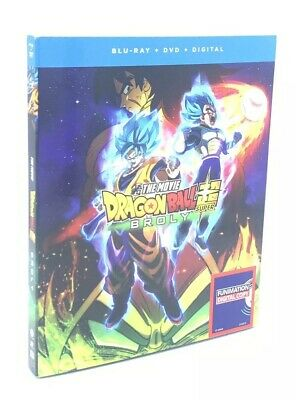 Dragon Ball Super: Broly -The Movie (Blu-ray+DVD+Digital, 2019) NEW w/ Slipcover