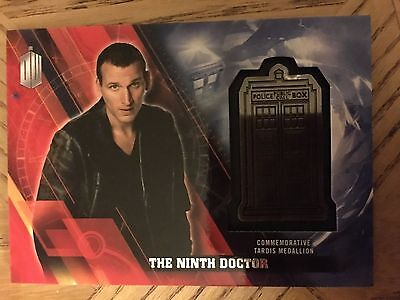 Topps Doctor Who Timeless 2016 Silver Medallion Card The Ninth Doctor 21/25