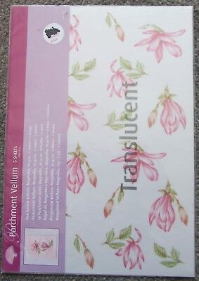 Pergamano Parchment Vellums Assorted Designs 5 Sheets Per Pack REDUCED NEW