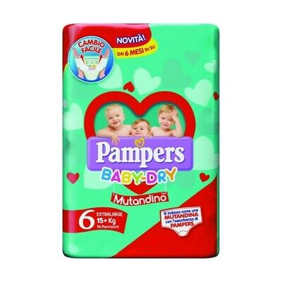 PAMPERS baby dry mutandino - tg 6 extra large (15kg+) 14 pannolini