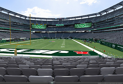 2 Lower Level (AISLE) 2019 New York Jets SEASON Tickets + Parking