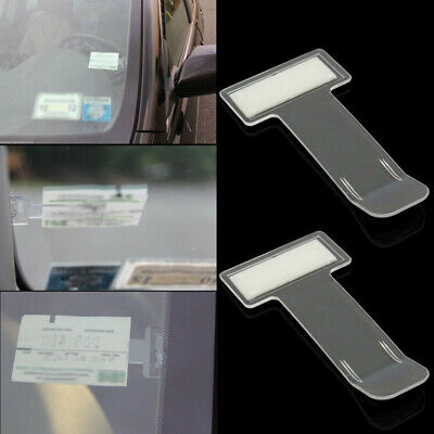 2x Car Vehicle Parking Ticket Permit Holder Clip Sticker Windscreen Window Kit