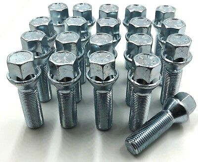 20 x ALLOY WHEEL BOLTS EXTENDED M14 x 1.5 40MM 17MM MERC VITO NUT LUG STUD [ 30]