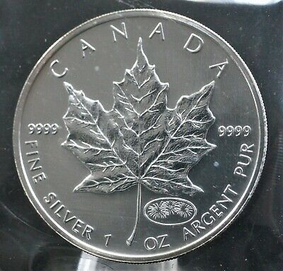 Canada 1999-2000 Pure Silver Maple Leaf Fireworks Privy Better Date Sealed. 289