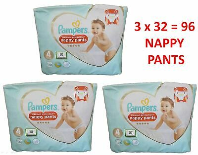 96 Pampers Premium Protection Nappy Pants Size 4 (9-15kg 20-33lbs)