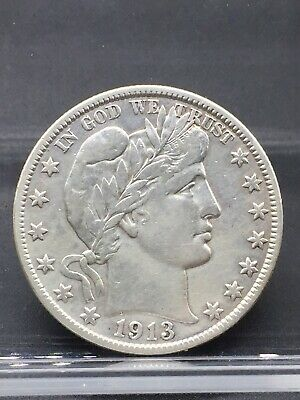 1913-S Barber Half Dollar- Scarce !! Better Date !! Vf