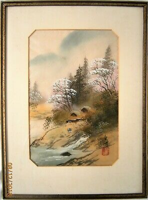 ART . JAPANESE LANDSCAPE PAINTING  by HAKUHO