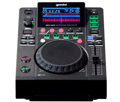 GEMINI MDJ600 MDJ 600 CD USB CDJ MEDIA PLAYER DJ Professionale con scheda audio