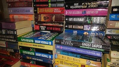 Lot of 30 Mystery Thriller Fiction Paperbacks Popular Author Books