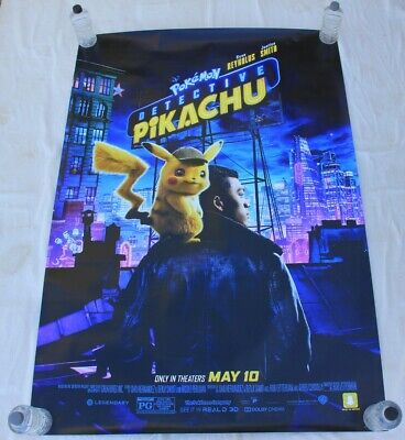 Detective Pikachu Pokemon live action 2019 Nintendo BUS SHELTER MOVIE POSTER