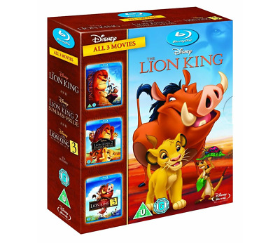 THE LION KING TRILOGY 1-3 [Blu-ray Box Set] All Movies 1 2 3 Disney Collection🌎