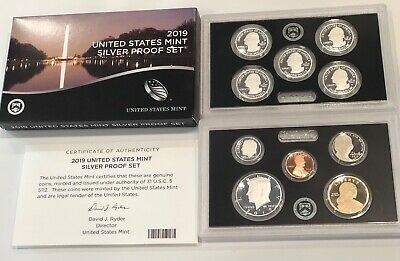 IN HAND- JUST RELEASED FROM MINT 2019-S US MINT 10 pc SILVER PROOF SET*****