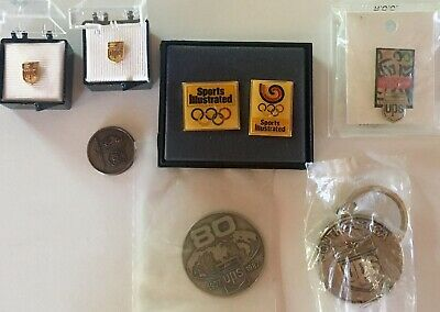 Vintage Lot Of 5 Pins 2 Coins 1 Key Chain  United Parcel Service UPS 1980s & 90s
