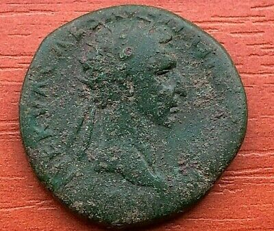 Roman Empire - Bronze Coin of Nerva 96-98 AD AE Dupondius Ancient Roman Coin