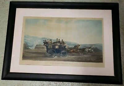 Antique Engraving By J.harris Fores's Coaching Incidents The Road Versus Rail