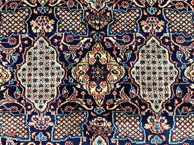 4x6 BLUE ANTIQUE PERSIAN RUG HAND KNOTTED WOOL HANDMADE RUGS indigo red 5x6 4x7
