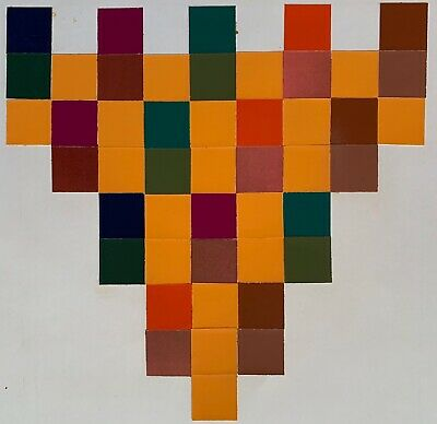 Vintage Abstract Geometric Paper Art Collage Wall Hanging Mid Century Modern - 5