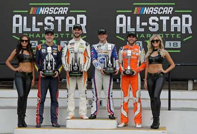 Nascar Superstars Win Winston Open At The All Star Race  8X10 Photo W/borders