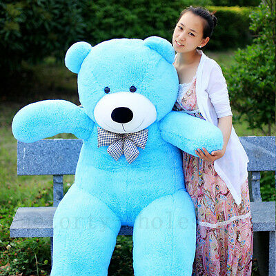78'' Blue Cute Giant Big Stuffed Plush Teddy Bear Huge Soft Toy Doll Bear Gift @