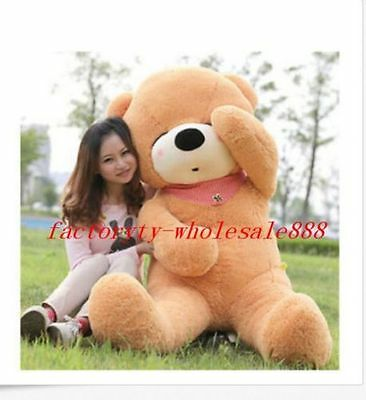 78'' Giant Big Brown Teddy Bear Stuffed Animal Plush Soft Toy Doll Gift EMS Ship