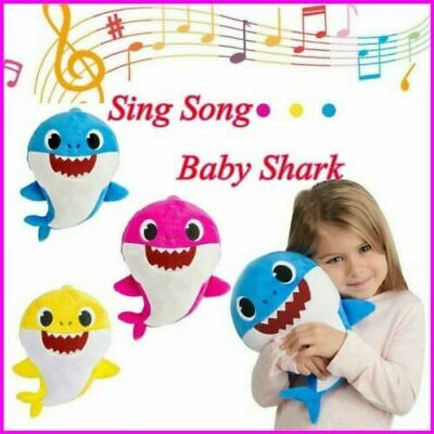 Baby Shark Plush Singing Toy Music Animal Soft Doll English Song Creative-Gift