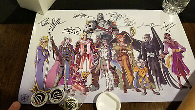 Critical Role Signed Poster, Pins, from gen con 2016 Live Show VIP Swag