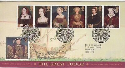 GB Stamps First Day Cover Anniv. Death of King Henry VIII SHS Tudor Rose 1997
