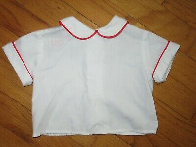 VTG Chocolate Soup White Shirt to Wear with Smocked Clothing size M (12-18 Month