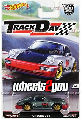 PORSCHE 964 - 2016 Hot Wheels Car Culture TRACK DAY Real Riders