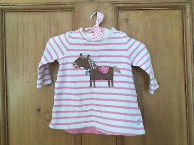 Girl's Age 0-3 Months - Joules Summer Top Pony Horse