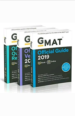 GMAT Official Guide 2019 (pdf) (3 ebooks)