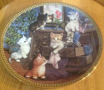 Vintage Collectible Cat Plate By Bradex