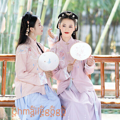 Women's Dress Tops Skirt Suit Hanfu Ancient Costume Tang Han Song Dynasty Dance