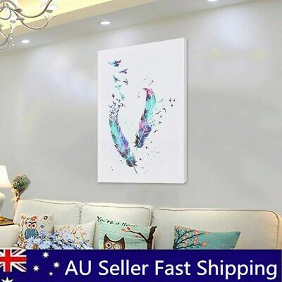 Modern Abstract Watercolour Beautiful Birds Art Wall Printed Pictures Home Decor
