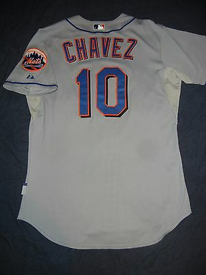 9af32fa74 GAME USED WORN Majestic ENDY CHAVEZ NEW YORK METS Jersey 06 NLCS Delgado  Piazza