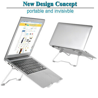Comfortable Portable Invisible Laptop Stand Adjustable Folding Notebook Holder E