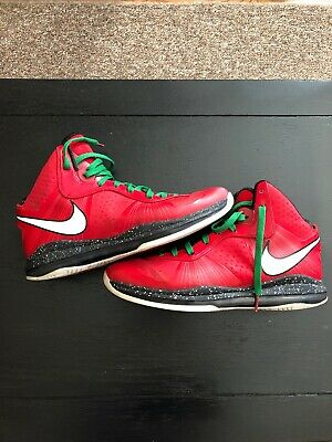 0cd9592c48b4 MENS NIKE LEBRON 10 Christmas Basketball Shoes Sz 8 41 M Used Fair ...