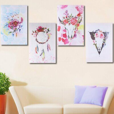 12''/18'' Framed Opening Boho Flowers Oli Canvas Print Paintings Wall Art